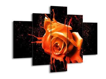 Moderní obraz oranžové růže  (F003565F150105)