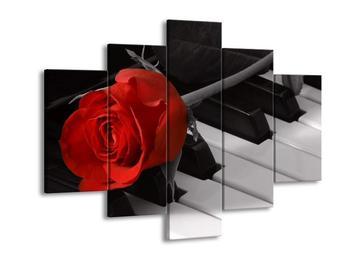 Obraz růže na piánu  (F003568F150105)