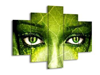 Obraz zelené lidské tváře (F003670F150105)