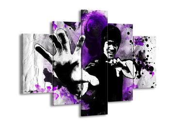 Obraz Bruceho Lee s fialovo-šedým pozadím  (F003700F150105)