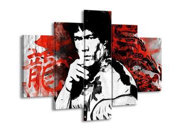 Obraz Bruceho Lee s červeným drakem  (F003701F150105)