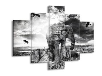 Moderní obraz slona  (F003925F150105)