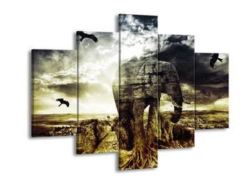Moderní obraz slona  (F003926F150105)