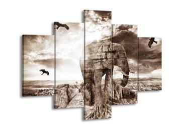 Obraz slona v krajině  (F003927F150105)