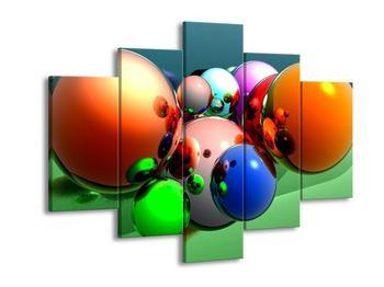 Obraz shluku barevných koulí  (F003976F150105)