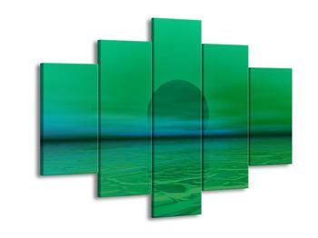 Obraz zeleného západu slunce  (F003991F150105)