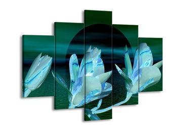 Moderní obraz květin s hladinou  (F003999F150105)
