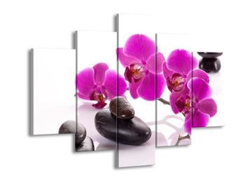 Obraz fialových květů s kameny (F004019F150105)
