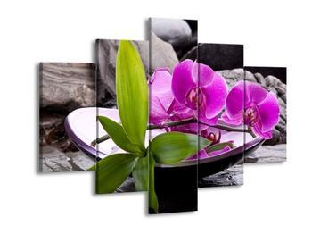 Obraz fialových orchidejí v míse (F004029F150105)