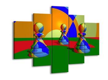 Obraz tří barevných pěšců (F004072F150105)