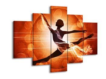 Moderní oranžový obraz tancující ženy (F004226F150105)