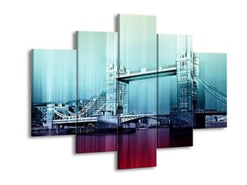 Moderní modrofialový obraz Tower Bridge (F004241F150105)