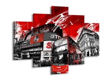 Moderní obraz autobusu Double Decker (F004270F150105)