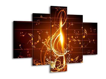 Moderní obraz houslového klíče a not (F004285F150105)