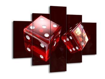 Moderní obraz dvou hracích kostek (F004291F150105)