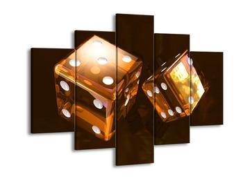 Moderní obraz dvou hnědých házecích kostek (F004292F150105)