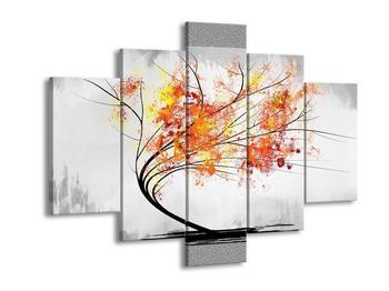 Abstraktní obraz -  podzimní strom (F005591F150105)