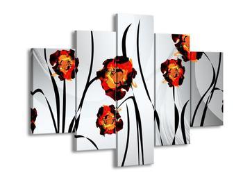 Obraz malovaných květin (F005611F150105)