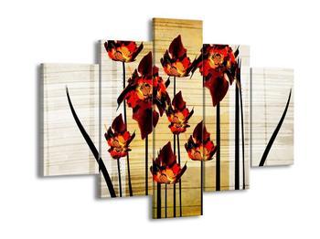 Obraz malovaných květin (F005614F150105)