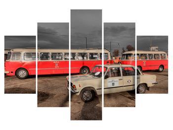 Tablou cu mașini istorice (K010378K150105)
