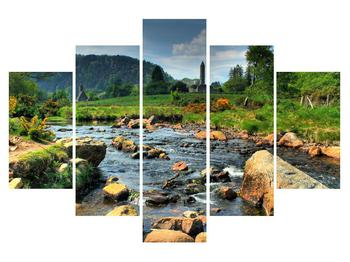 Tablou cu peisaj montan cu râu (K010406K150105)