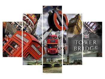 Zložený obraz - ikony Londýna (K010737K150105)