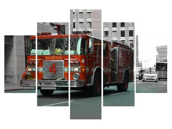 Obraz hasičského auta (K010957K150105)