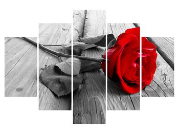 Tablou cu trandafirul roșu închis (K011138K150105)