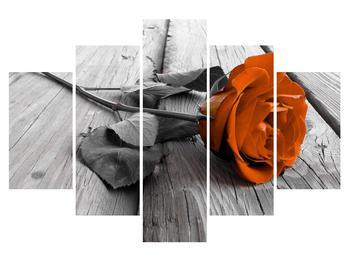 Tablou cu trandafirul portocaliu (K011139K150105)