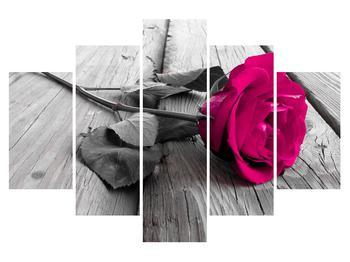 Obraz ružovej ruže (K011141K150105)