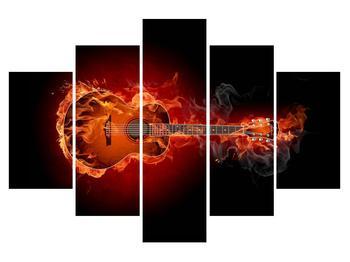 Lángoló gitár képe (K011168K150105)