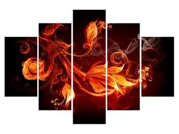 Tablou cu flori în foc (K011169K150105)