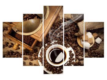 Obraz šálky kávy a kávových zŕn (K011182K150105)