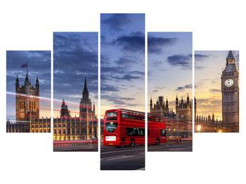 Tablou cu Londra cu autobuz (K011185K150105)