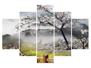 Tablou cu peisaj înflorit de primăvară (K011207K150105)
