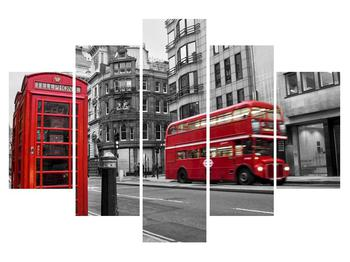 Tablou cu căsuța de telefon din Londra (K011222K150105)