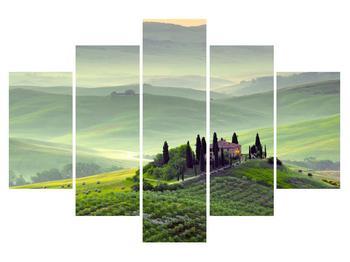 Tablou cu peisaj și casă (K011272K150105)