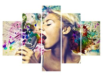 Énekesnő modern kép (K011273K150105)