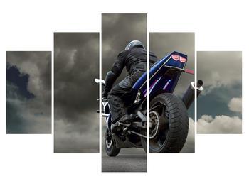 Obraz motorkáře na motorce (K011302K150105)