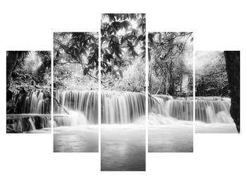 Černobílý obraz vodopádů (K011313K150105)
