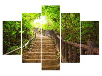 Tablou cu trepte ducând prin peisaj (K011329K150105)