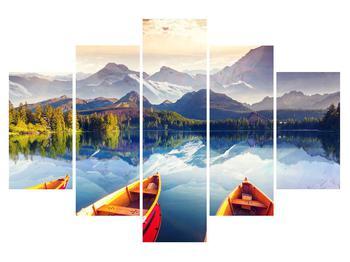 Tablou cu peisaj montan cu lac (K011330K150105)