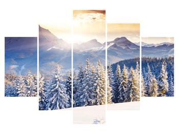 Tablou cu peisaj montan de pădure iarna (K011331K150105)