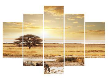 Obraz savany so zebrami (K011346K150105)