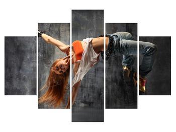 Obraz street dance tanečnice (K011371K150105)