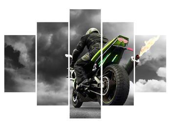 Tablou cu motociclist pe motocicletă (K011383K150105)