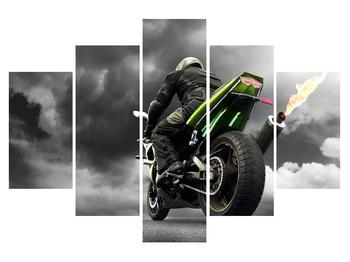 Obraz motorkára na motorke (K011383K150105)