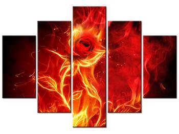 Tablou cu trandafir în foc (K011397K150105)