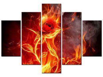 Tablou cu trandafir în foc (K011399K150105)