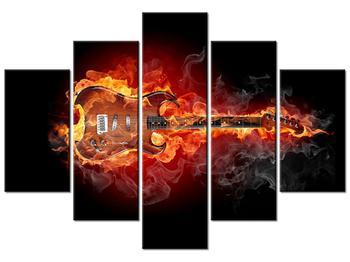Lángoló gitár képe (K011403K150105)